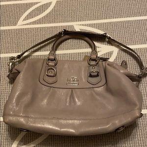 Coach Elephant Gray Leather Bag